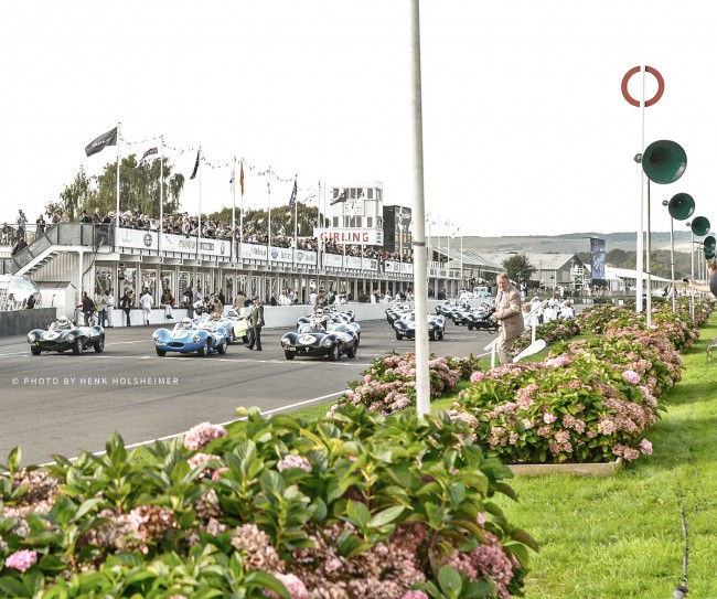 The largest gathering of Jaguar D-Types in history - Goodwood Revival 2014
