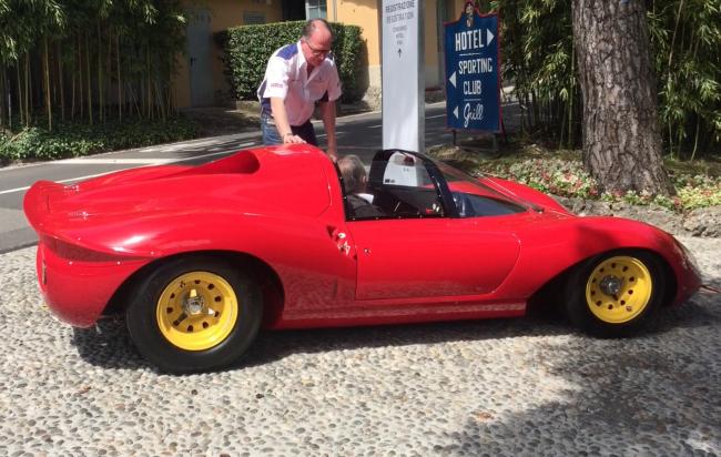 Engine sound: 1966 Ferrari Dino 206 S at Villa d'Este 2015